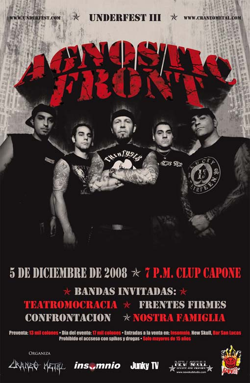 Agnostic Front Tickets The Chance Theater Ny