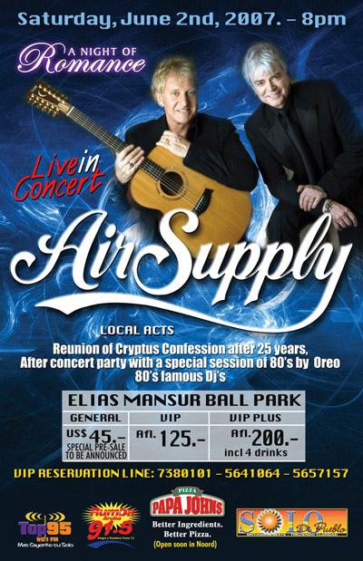 2011 Air Supply Dates