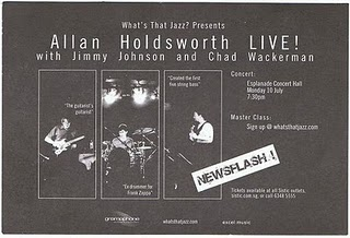 Tickets Allan Holdsworth