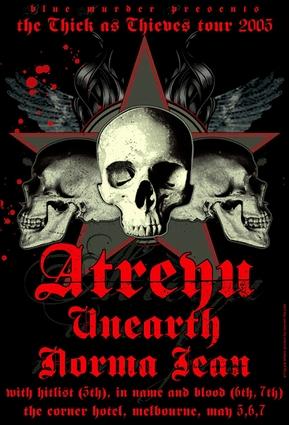 Dates Atreyu 2011