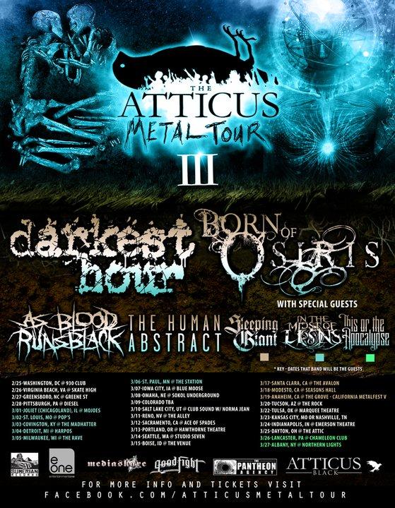 Atticus Metal Tour Denver Tickets