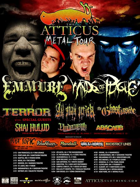 Atticus Metal Tour Tucson
