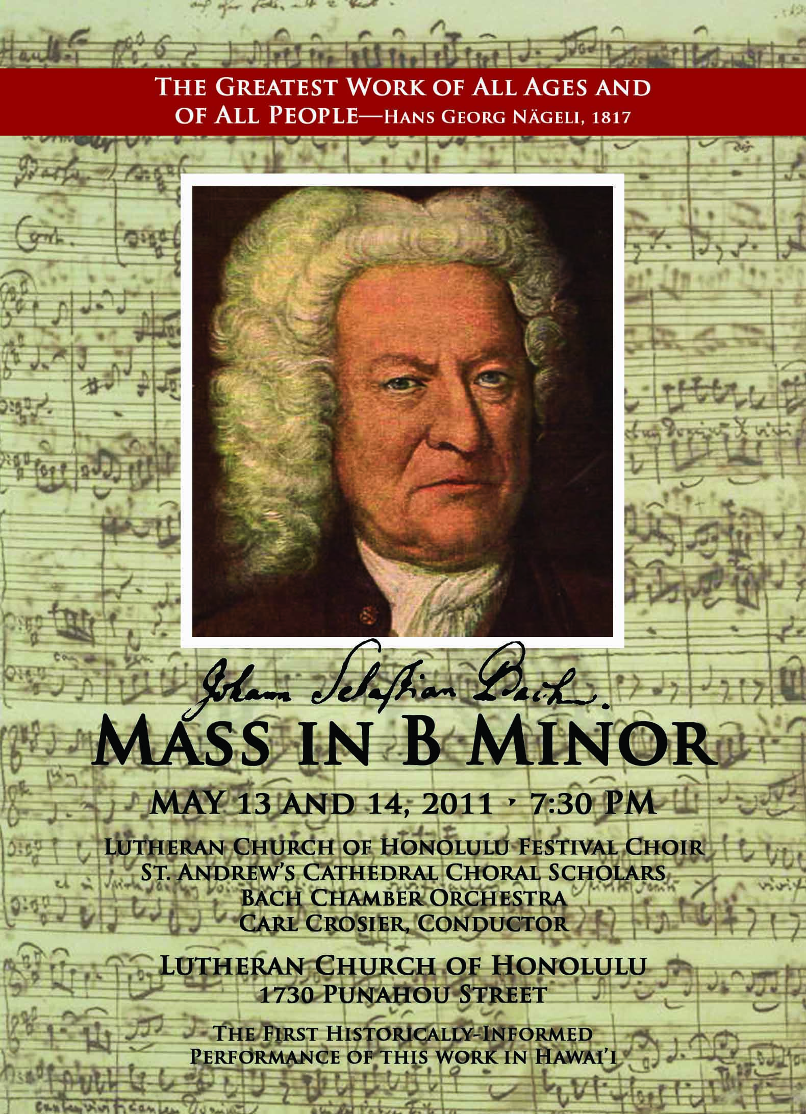 Bach B Minor Mass Show Tickets