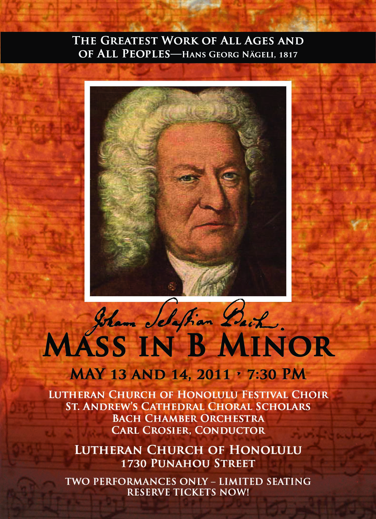 Tickets Bach B Minor Mass