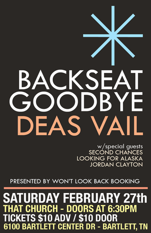 Backseat Goodbye Heirloom Arts Center Tickets