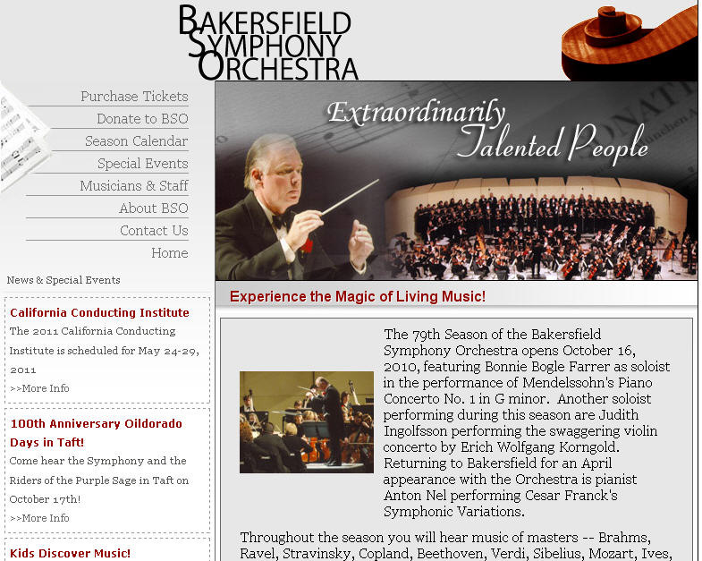 Bakersfield Symphony Orchestra Tickets Bakersfield