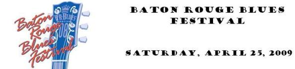 2011 Baton Rouge Blues Festival Dates