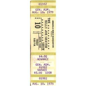 Billy Joe Shaver Tickets