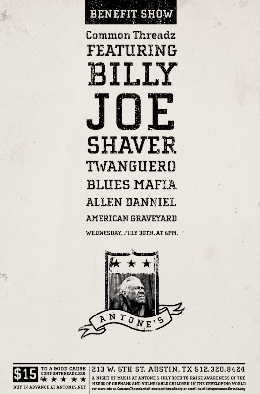Dates 2011 Billy Joe Shaver