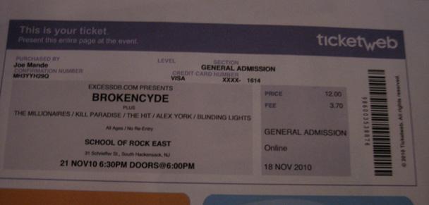 Tour Brokencyde 2011 Dates