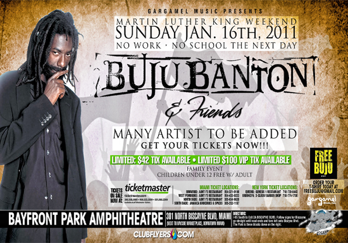 2011 Dates Buju Banton