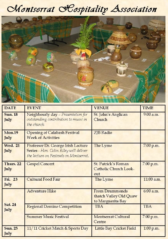 Dates Calibash 2011