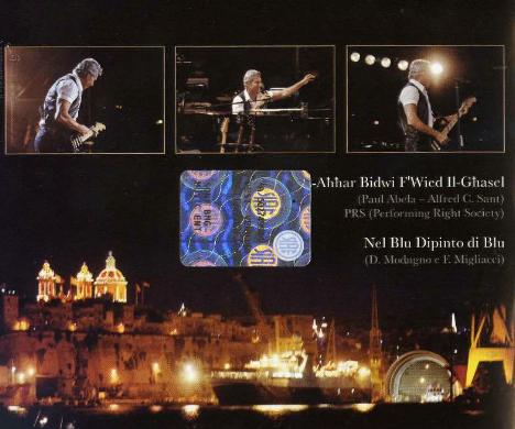 Dates 2011 Tour Claudio Baglioni