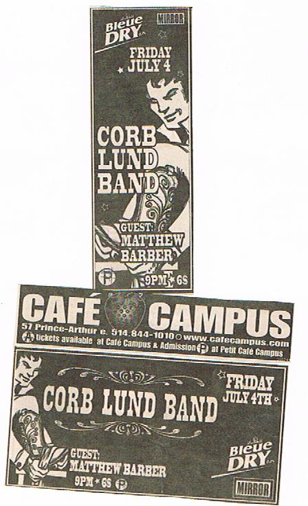 Corb Lund Show Tickets