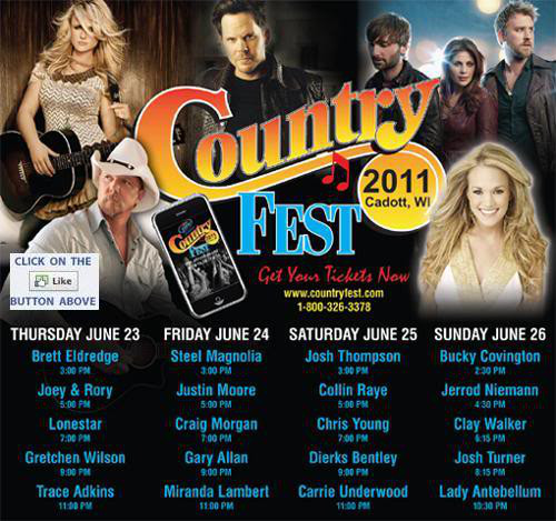 Dates Tour Country Fest 2011