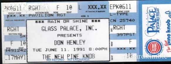 Don Henley Dates Tour 2011