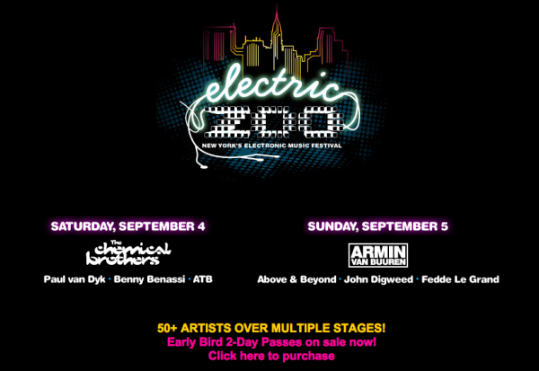 Electric Zoo Festival New York NY