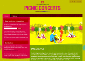 English Heritage Picnic Concerts Tickets Walden