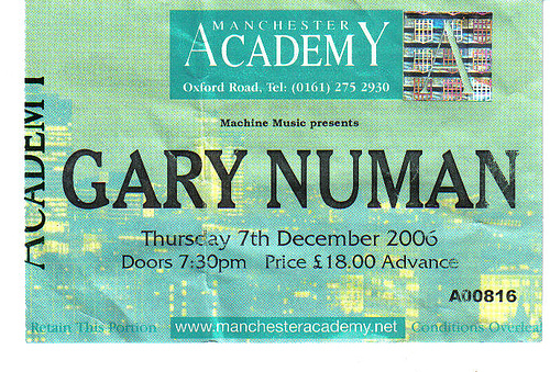 Gary Numan Paradise Rock Club