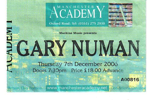 Gary Numan Paradise Rock Club