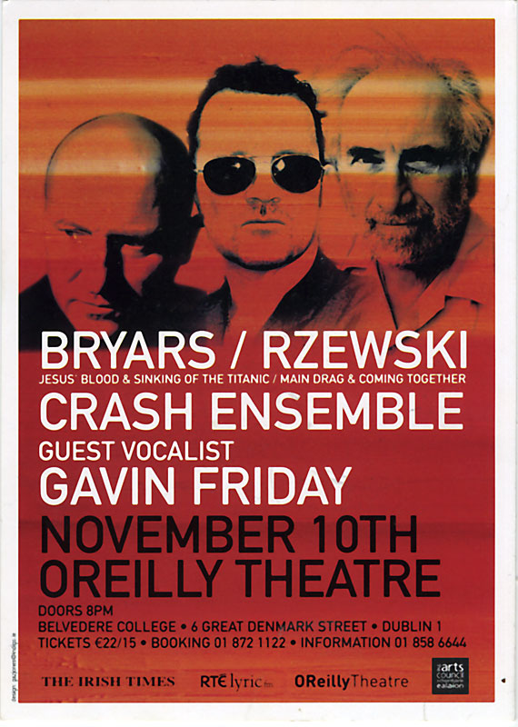 Gavin Friday Tickets