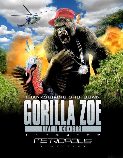 Gorilla Zoe 2011 Dates