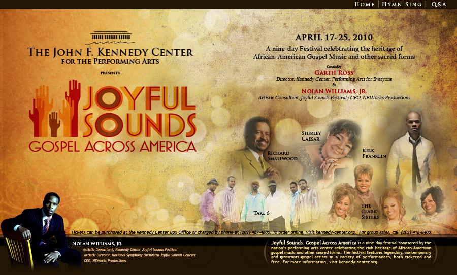 Dates Gospel Across America 2011
