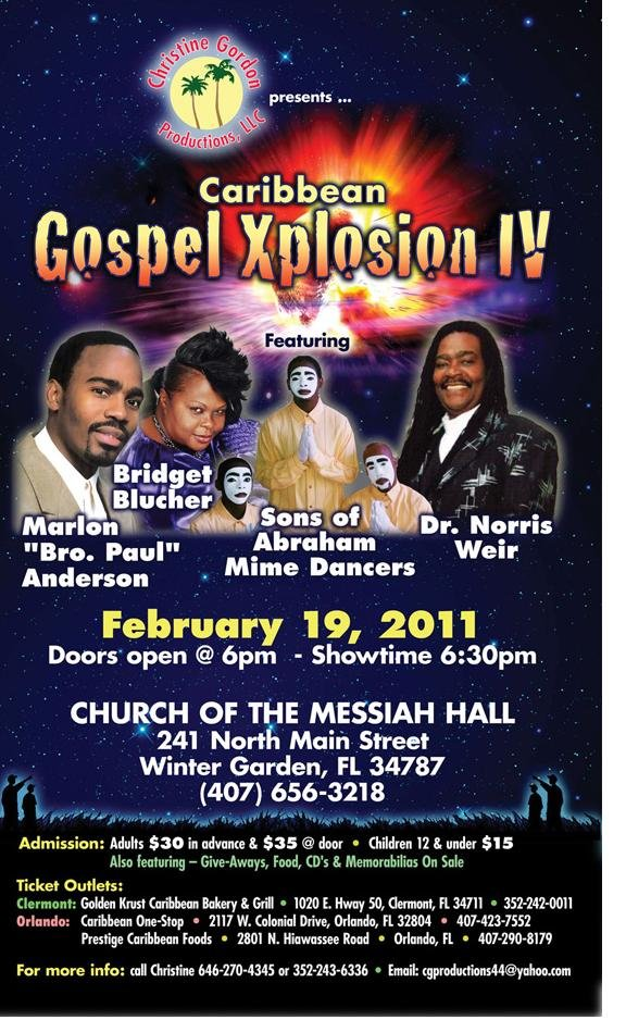 Tickets Show Gospel Explosions