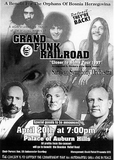 Grand Funk Railroad Tickets Peppermill Concert Hall