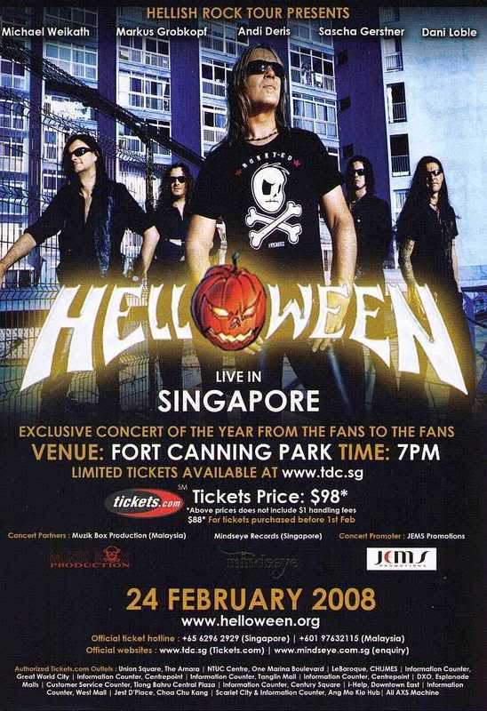 2011 Dates Hellish Rock World Tour