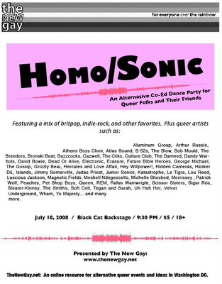 Homo Sonic Dance Party Tickets
