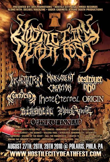 Hostile City Death Fest New Alhambra Arena Tickets