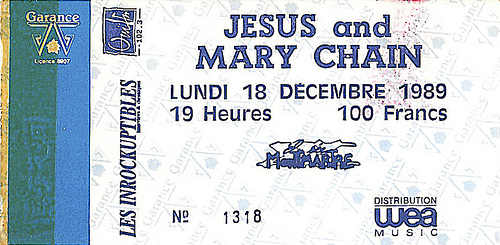 Tickets Jesus Mary Chain
