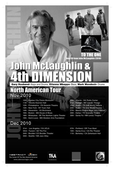John Mclaughlin Dates 2011 Tour