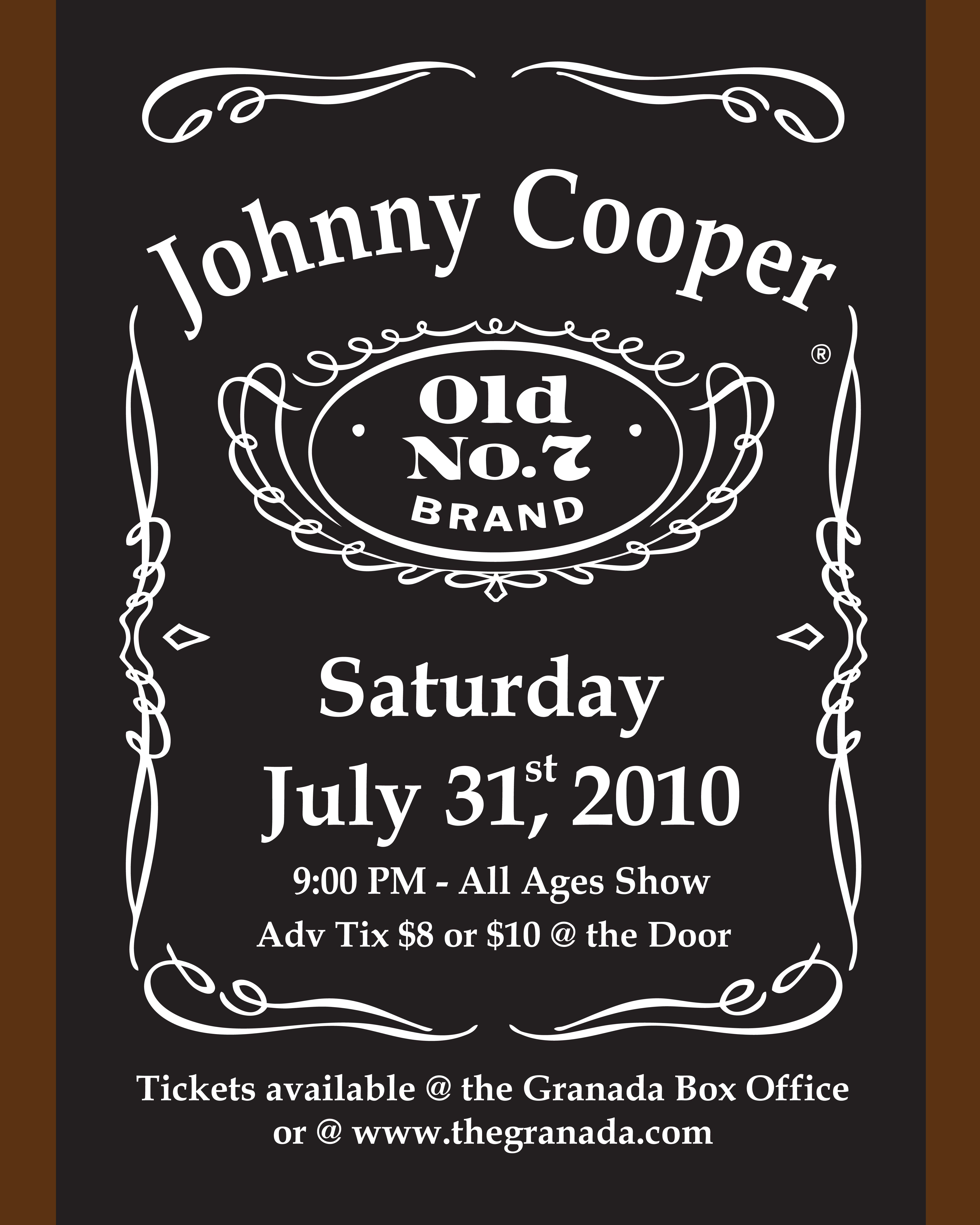 Johnny Cooper Fort Worth Tickets