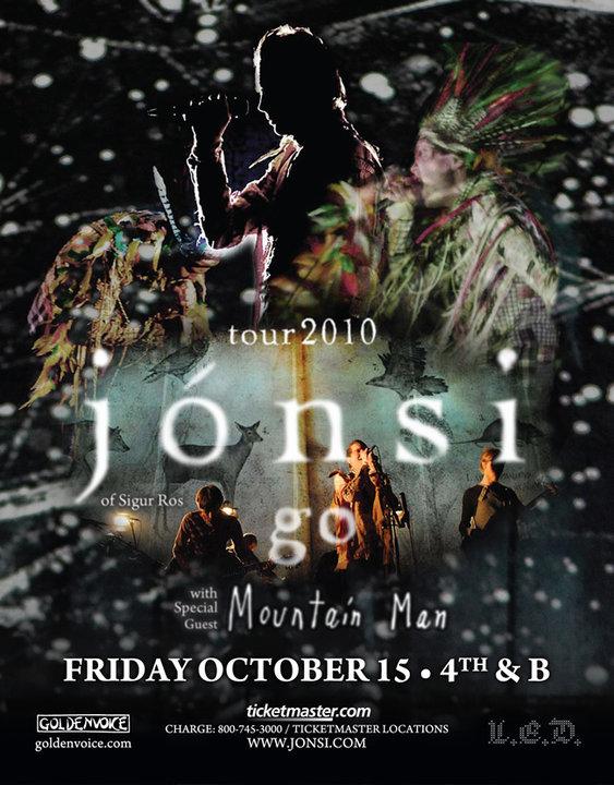 2011 Dates Jonsi Tour