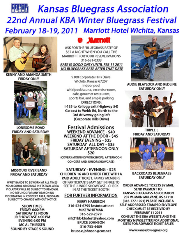 2011 Kansas Music Hall Of Fame Dates