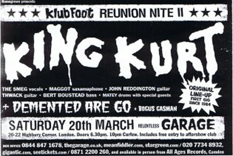 King Kurt Tickets Relentless Garage