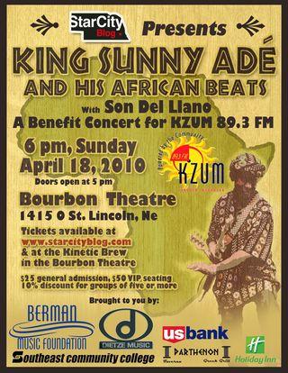 2011 Tour Dates King Sunny Ade