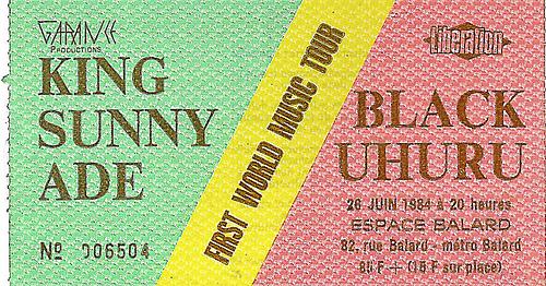 Tickets King Sunny Ade