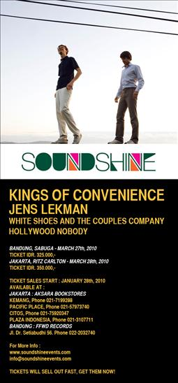 Kings Of Convenience New York Tickets