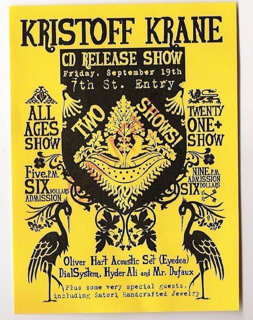 Tour Dates Kristoff Krane 2011