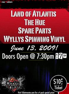 Tour Land Of Atlantis Dates 2011