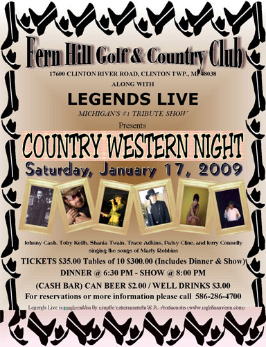 Legends Of Country Tribute Tickets Show