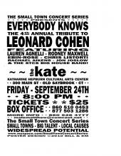 Tickets Leonard Cohen Tribute Show