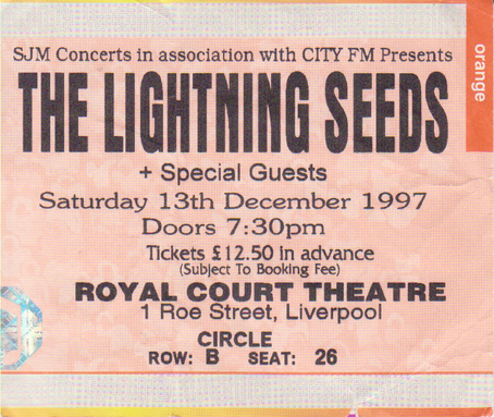 Lightning Seeds Sheffield Memorial Hall