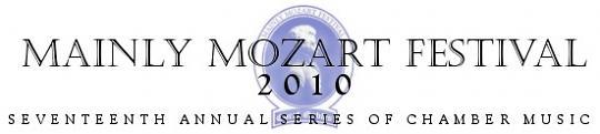 Tickets Show Mainly Mozart Festival