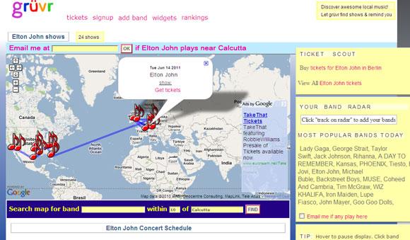 Concert Maps