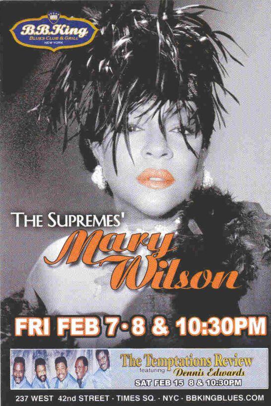 2011 Mary Wilson Show