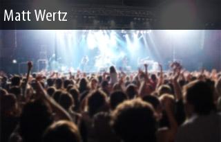 2011 Tour Matt Wertz Dates